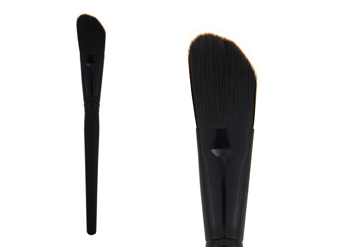 High End Black Makeup Brush Synthetic Concealer Brush Aluminum Ferrule