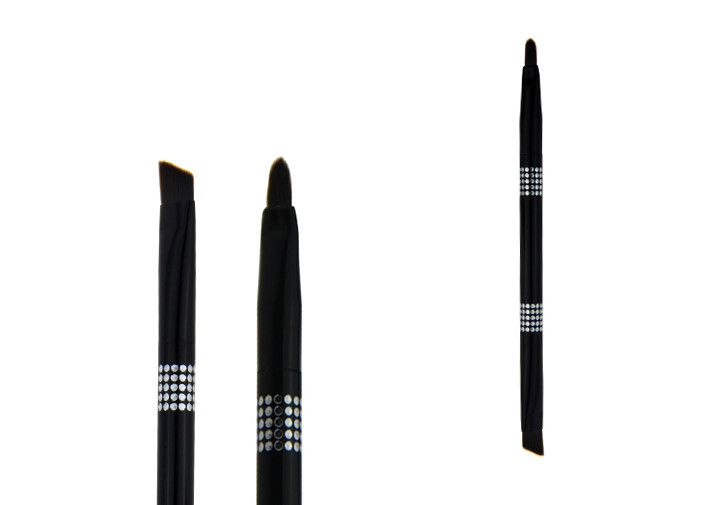 Black Double End Lip Liner Brush Liner Makeup Brush Easy To Carry