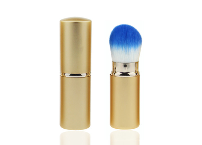 Makeup Powder Retractable Blusher Brush Nylon Blue White Hair