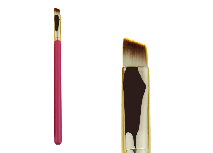 Synthetic Hair Angled Eye Brow Brush / Eyeshadow Makeup Brushes