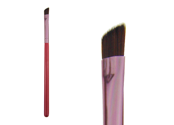 Custom Beauty Eye Brow Brush With Wood Handle , Private Label Makeup Brushes