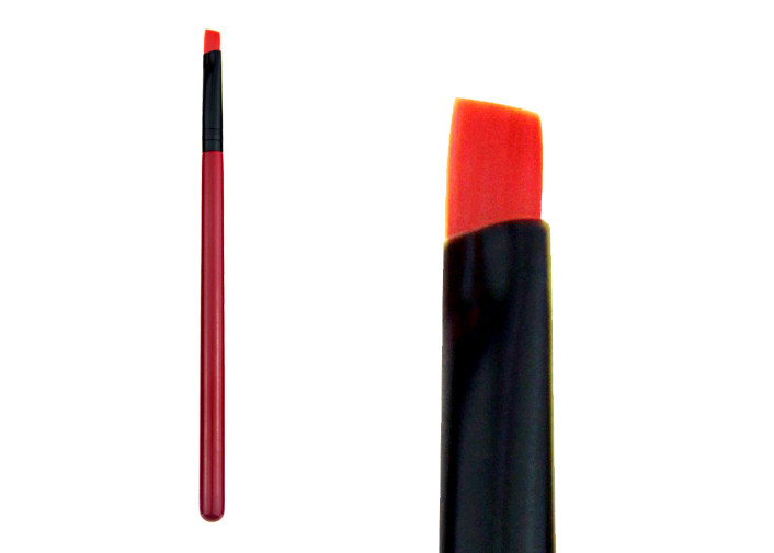 Red Small Angled Liner Brush Brow Double Ended Makeup Brushes for Eyes