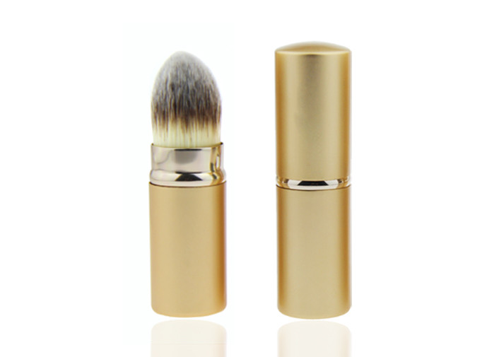 Natural Tapered Kabuki Retractable Makeup Brush / Face Makeup Brushes