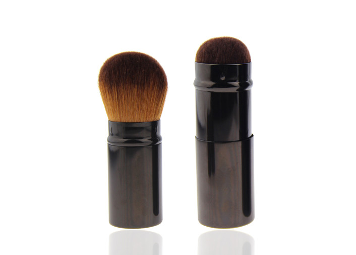 Natural Beauty Cosmetic Synthetic Hair Makeup Brush Retractable Powder Brush