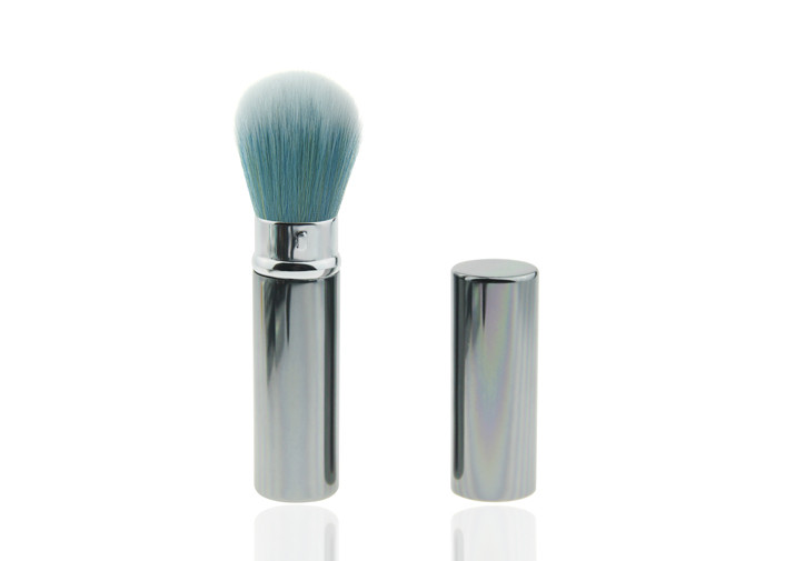 Professional Tapered Too Faced Retractable Kabuki Brush For Makeup , Custom