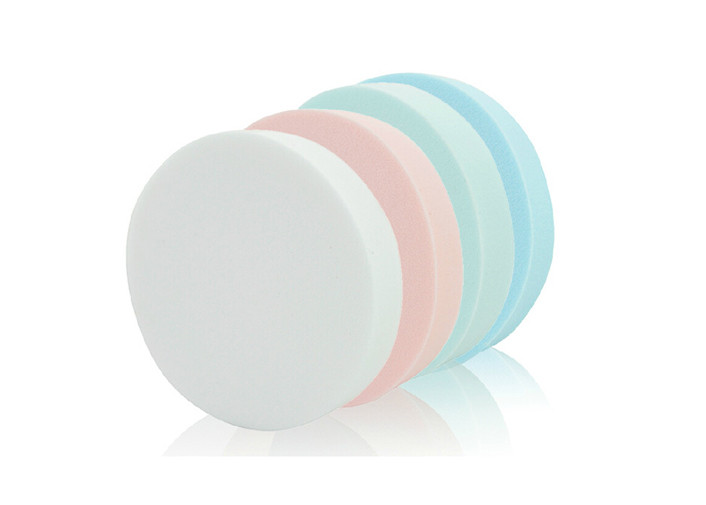 Colorful Portable Pressed Powder Puff Makeup Tool / Makeup Puff Sponge