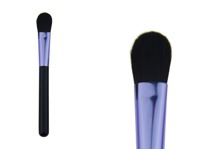 Durable Purple Powder Foundation Concealer Brush / Private Label Makeup Brushes